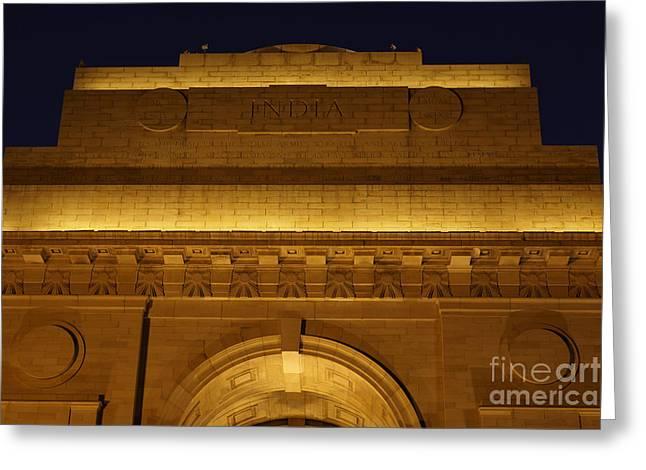 Illuminate Greeting Cards - India Gate Greeting Card by Milind Ketkar