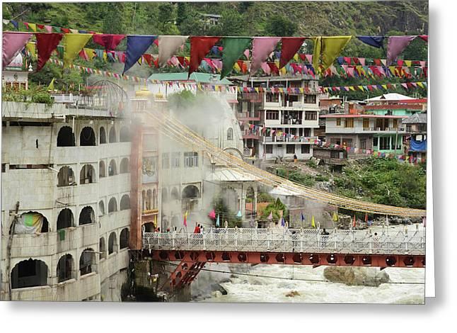 India, Himachal Pradesh, Manikaran, Sri Greeting Card by Anthony Asael