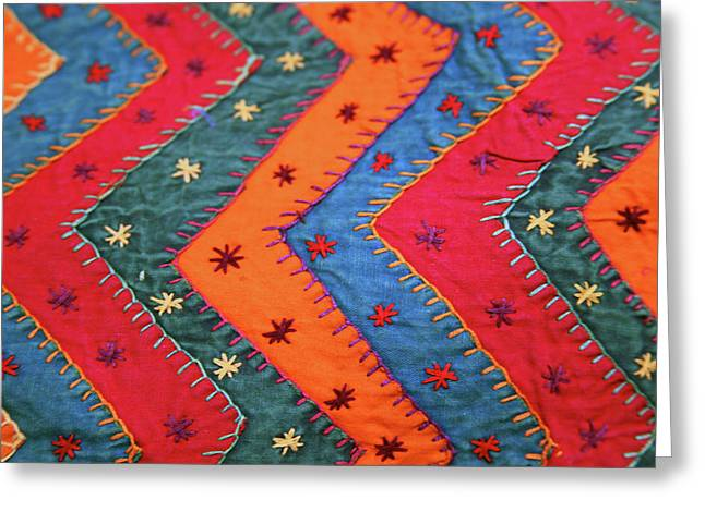 India Jaipur Traditional Indian Textile Greeting Card by Kymri Wilt