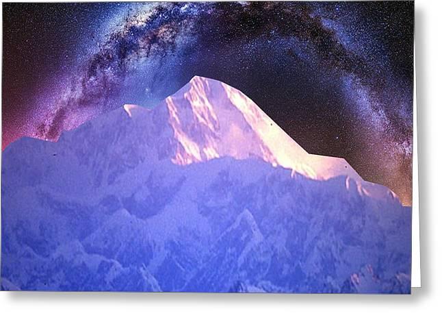 India Nepal Himalaya Mountain Ranges Snow Sparkle Milky White Presentation Obtained Through Digital  Greeting Card by Navin Joshi