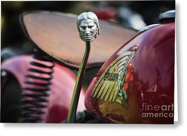 Clutch Greeting Cards - Indian 741B Scout Gear Shift Greeting Card by Tim Gainey