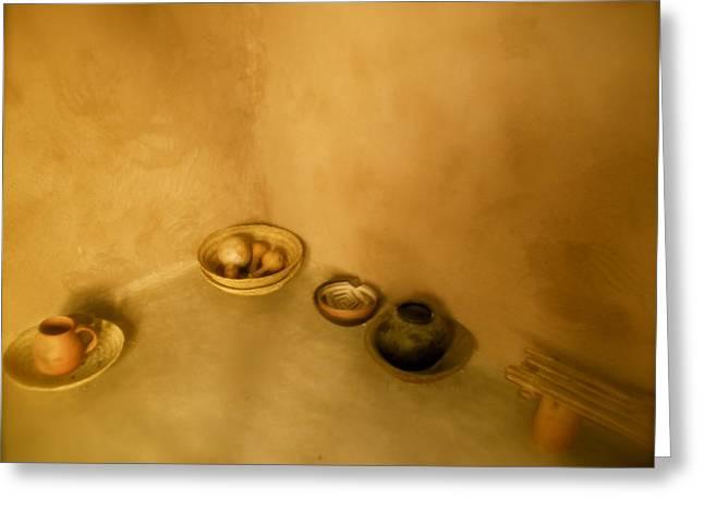 Pot Ceramics Greeting Cards - Indian Art Work Greeting Card by Kimberly Banks