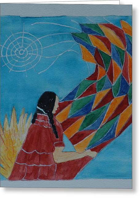 Avis Greeting Cards - Indian Blanket Greeting Card by Avis Fox