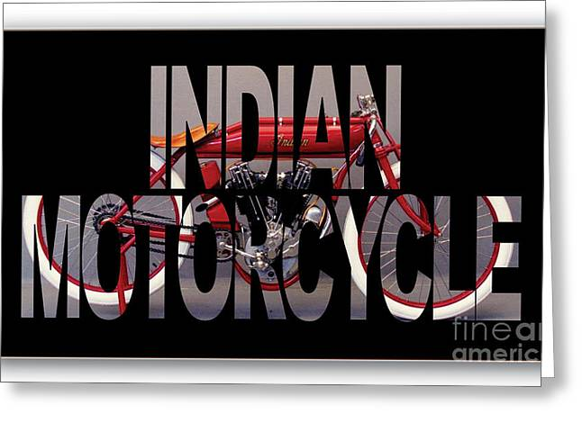 Indian Board Track Racer Motorcycle Greeting Card by Marvin Blaine