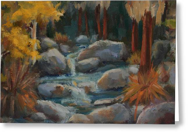 The Trees Greeting Cards - Indian Canyon Creek Greeting Card by Maria Hunt