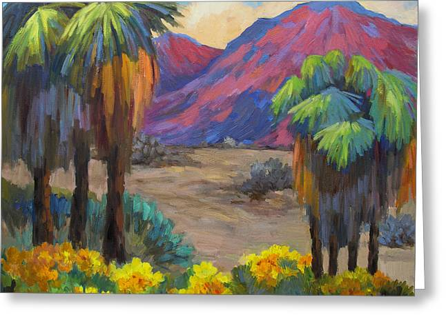 Palm Springs Greeting Cards - Indian Canyon in Spring Greeting Card by Diane McClary