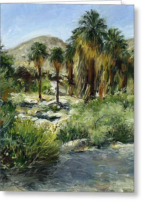 Stacy Vosberg Greeting Cards - Indian Canyon Palms Greeting Card by Stacy Vosberg