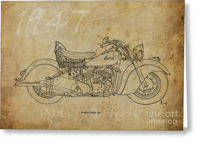 Regalo Greeting Cards - Indian Chief 1947 Greeting Card by Pablo Franchi