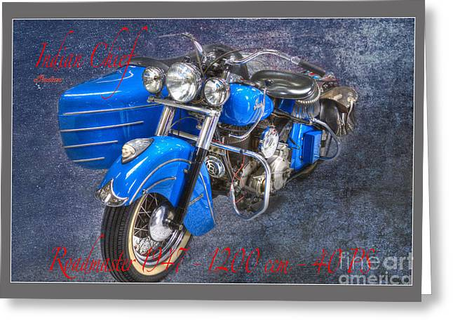 Mobile Designs Greeting Cards - Indian Chief Motorcycle Legend Greeting Card by Heiko Koehrer-Wagner
