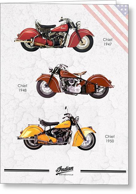 Indian Chief Greeting Cards - Indian Chief Trio Greeting Card by Mark Rogan