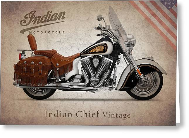 Indian Chief Greeting Cards - Indian Chief Vintage LE Greeting Card by Mark Rogan