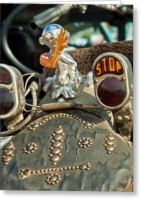 Stop Greeting Cards - Indian Chopper Taillight Greeting Card by Jill Reger