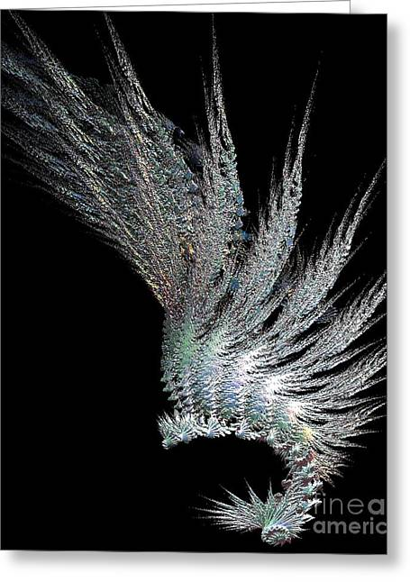 Indian Feather Head Dress Greeting Card by Gail Matthews