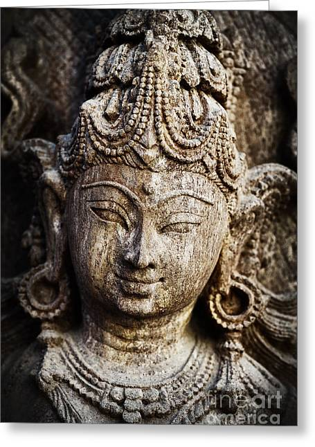 Hindu Goddess Photographs Greeting Cards - Indian goddess Greeting Card by Tim Gainey