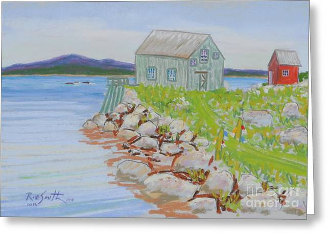 Shack Pastels Greeting Cards - Indian Harbour too Greeting Card by Rae  Smith PSC