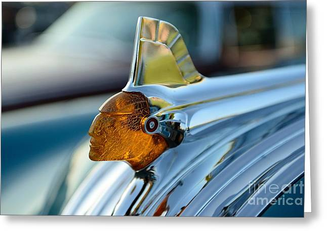 Chieftains Greeting Cards - Indian Head Hood Ornament Greeting Card by Paul Ward