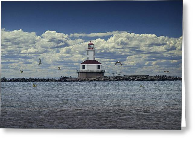 Randy Greeting Cards - Indian Head Lighthouse on Prince Edward Island No. 058 Greeting Card by Randall Nyhof