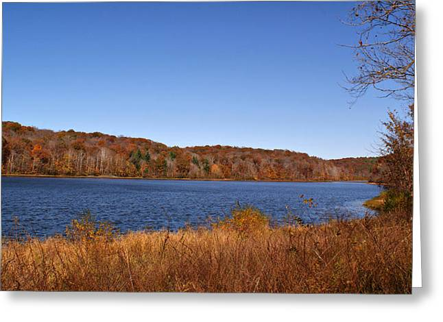 Indiana Autumn Greeting Cards - Indian Lake Greeting Card by Sandy Keeton