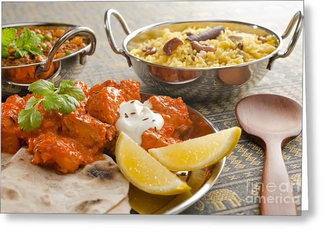 Selection Greeting Cards - Indian Meal  Greeting Card by Colin and Linda McKie