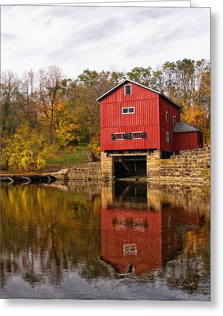 Grist Mill Greeting Cards - Indian Mill Upper Sandusky Ohio Greeting Card by Brian Mollenkopf