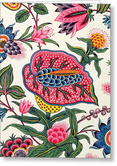 Manufactured Greeting Cards - Indian Model Gouache On Paper Greeting Card by Peter Lemeunnie