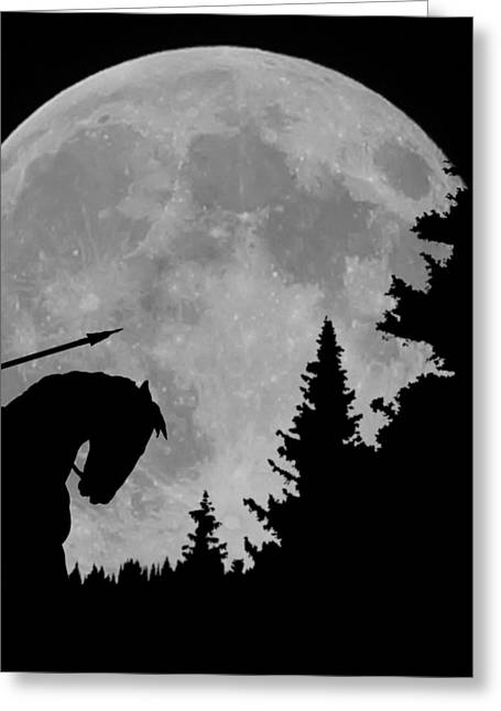 Night-scape Greeting Cards - Indian Moon Greeting Card by Ernie Echols