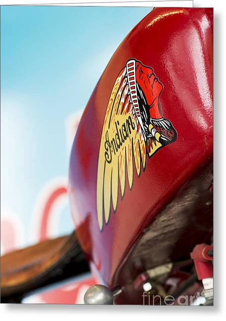 Tim Greeting Cards - Indian Motorcycle Abstract Greeting Card by Tim Gainey