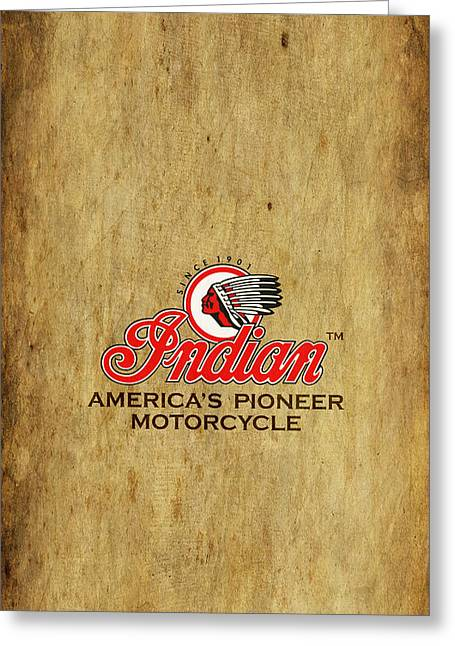 T Shirts Greeting Cards - Indian Motorcycle Phone Case Greeting Card by Mark Rogan