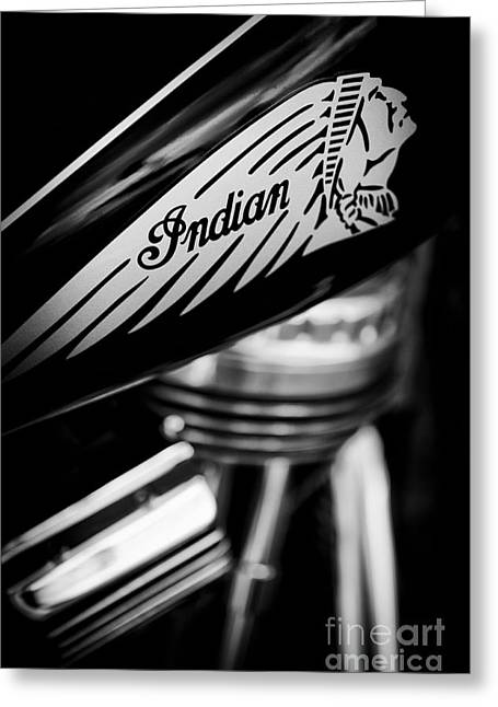 V Twin Greeting Cards - Indian Motorcycle Greeting Card by Tim Gainey