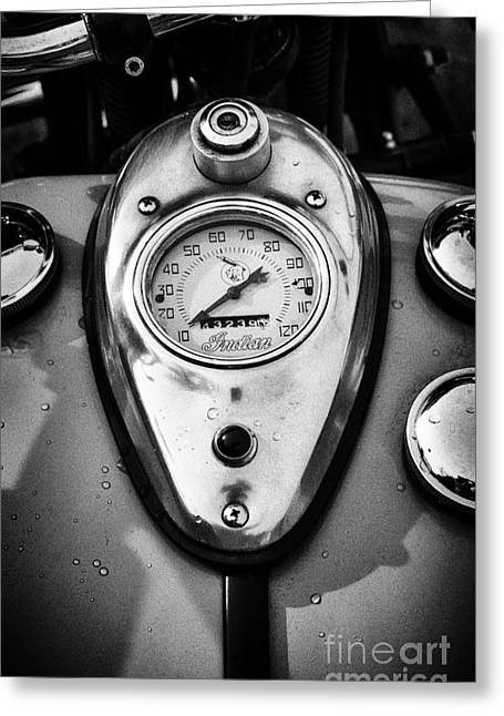 Speedometer Greeting Cards - Indian MPH Greeting Card by Tim Gainey