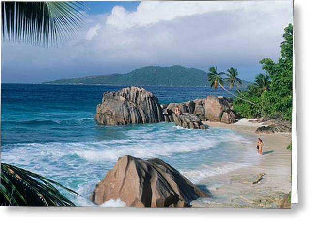 Southeastern Greeting Cards - Indian Ocean La Digue Island Seychelles Greeting Card by Panoramic Images