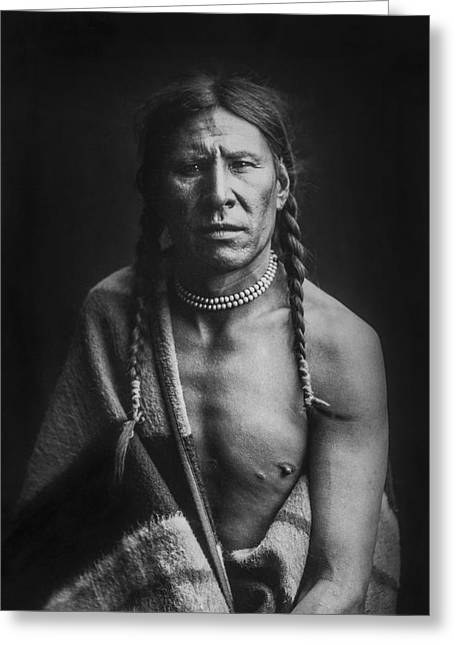 Blanket Photographs Greeting Cards - Indian of North America circa 1900 Greeting Card by Aged Pixel