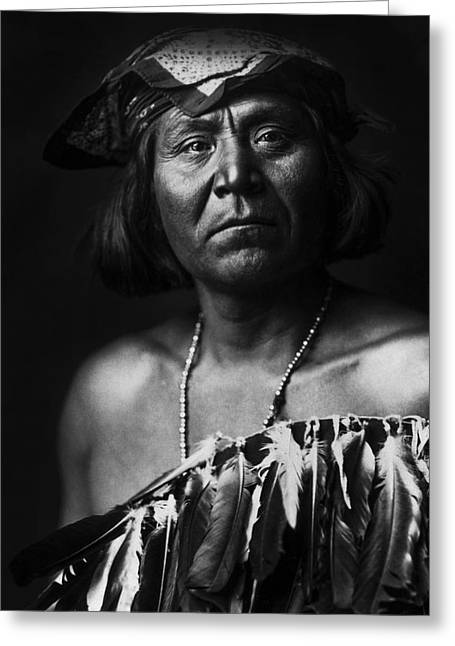 1903 Greeting Cards - Indian of North America circa 1903 Greeting Card by Aged Pixel