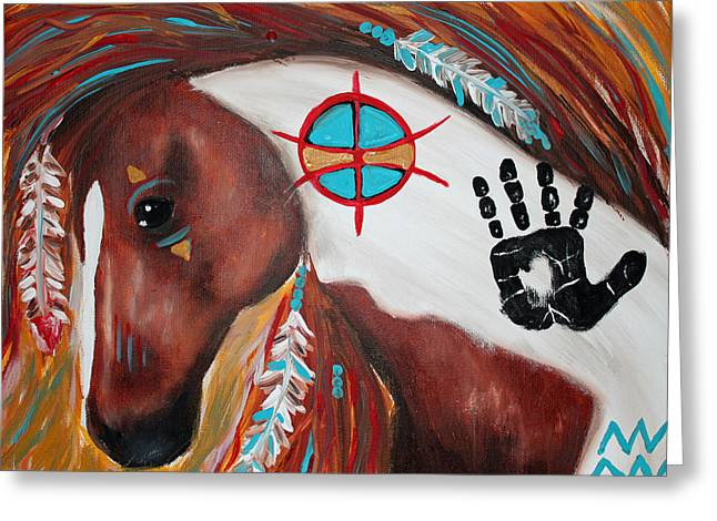 Tara Richelle Art Greeting Cards - Indian Outlaw Greeting Card by Tara Richelle