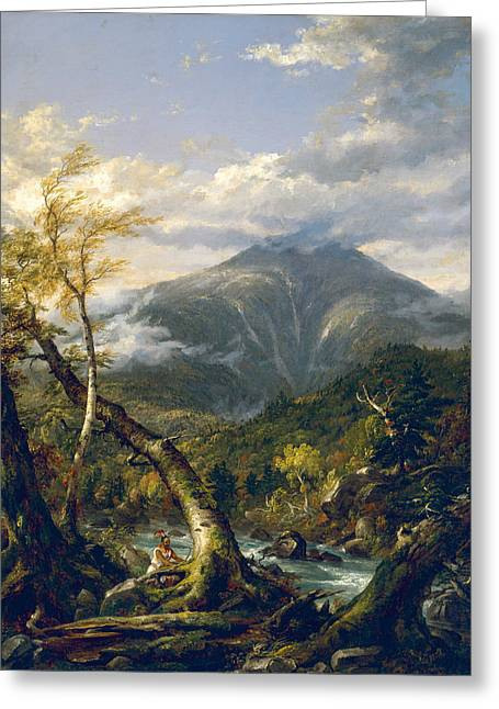 Thomas Cole Greeting Cards - Indian Pass Greeting Card by Thomas Cole
