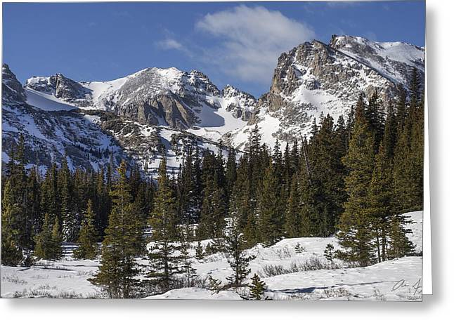 Indian Peaks Greeting Card by Aaron Spong