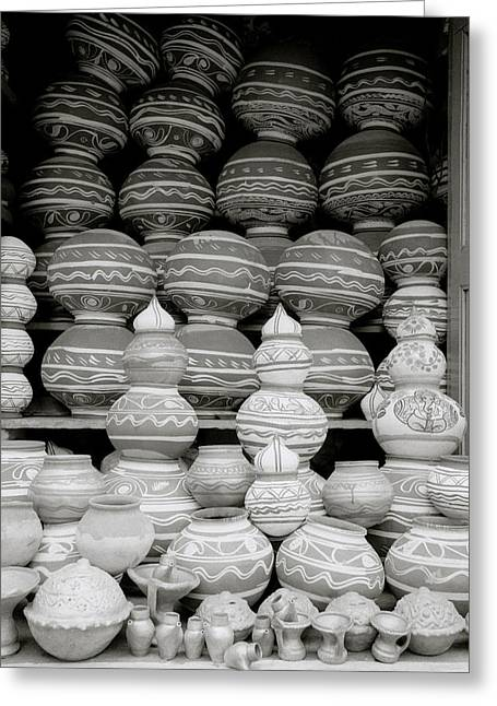 Potter And Clay Greeting Cards - Traditional India Greeting Card by Shaun Higson