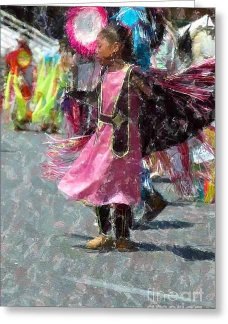Indian Princess Greeting Cards - Indian Princess Dancer Greeting Card by Kathleen Struckle