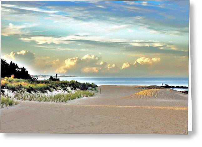 Seacape Greeting Cards - Indian River Inlet - Delaware State Parks Greeting Card by Kim Bemis