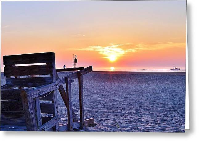 Beaches Greeting Cards - Indian River Inlet Sunrise - Delaware Greeting Card by Kim Bemis