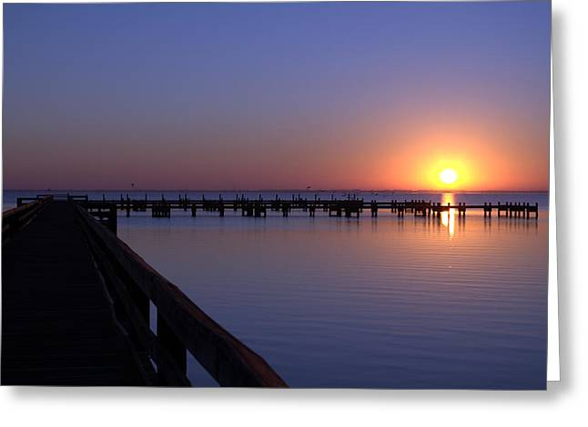 Indian River Sunrise Greeting Card by Brian Harig