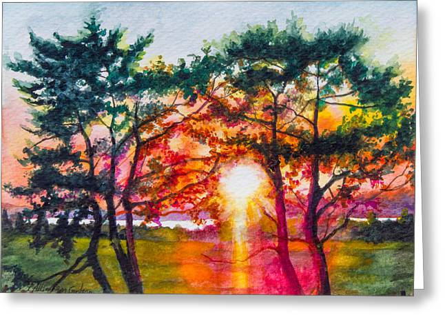 Sunset Bay State Park Greeting Cards - Indian River Sunset Greeting Card by Patricia Allingham Carlson