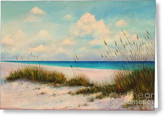 Sand Dunes Paintings Greeting Cards - Indian Rock Beach Florida Greeting Card by Gabriela Valencia