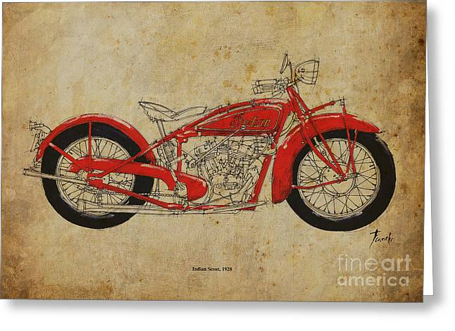 Indian Scout 1928 Greeting Card by Pablo Franchi