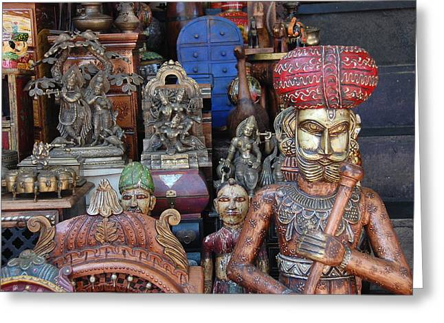 Miscellany Greeting Cards - Indian Statuary Greeting Card by Kendell Timmers