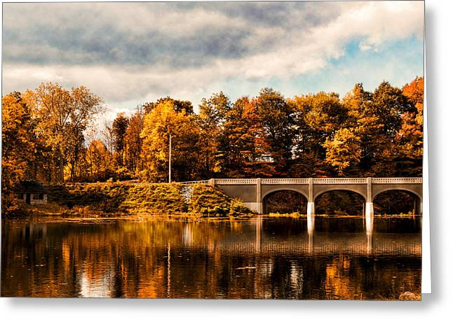 Akron Greeting Cards - Indian Summer Greeting Card by Peter Chilelli