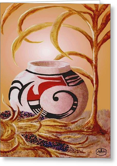 Broken Vase Greeting Cards - Indian Summer Greeting Card by Ronald Chambers