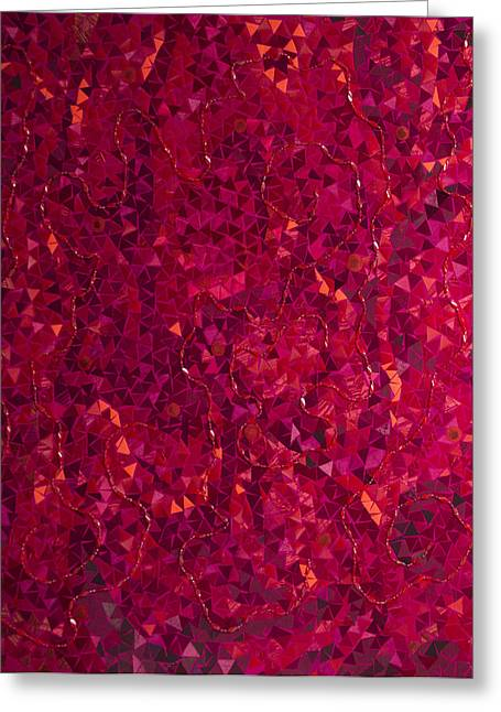 Strawberry Tapestries - Textiles Greeting Cards - Indian Summer Greeting Card by Tanya Mayer