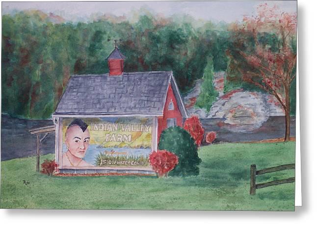 Best Sellers -  - Weathervane Greeting Cards - Indian Valley Farm Greeting Card by Rhonda Leonard