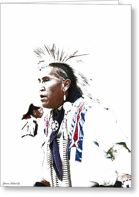 Indian Warrior Greeting Card by Robert Jensen